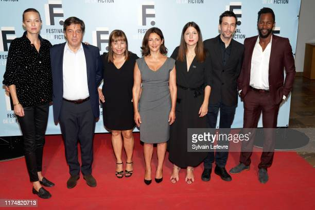 Jury members Elodie Frenck, Francois Tron, Isabelle Czakja, Valerie Karsenti, Marie Roussin, Alex Beaupain and Sydney Gallonde attend the 21th...