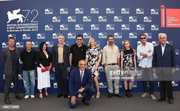 Jury members Emmanuel Carrere Hou Hsiaohsien Lynne Ramsay Venice Film Festival Director Alberto Barbera President Alfonso Cuaron Nuri Bilge Ceylan...