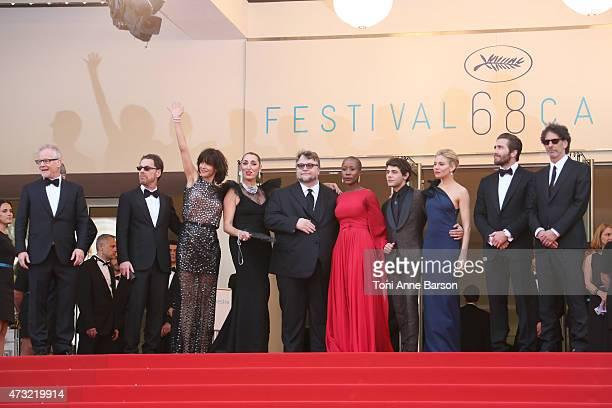 Jury members Ethan Coen Sophie Marceau Rossy de Palma Guillermo del Toro Rokia Traore Xavier Dolan Sienna Miller Jake Gyllenhaal and Joel Coen attend...