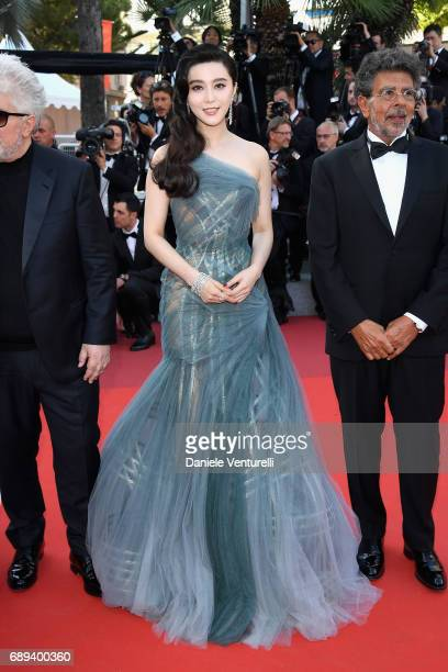 Jury members Fan Bingbing and Gabriel Yared attend the Closing Ceremony during the 70th annual Cannes Film Festival at Palais des Festivals on May...
