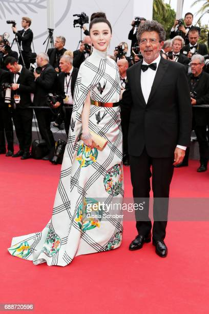 Jury members Fan Bingbing Gabriel Yared attend the 'Amant Double ' screening during the 70th annual Cannes Film Festival at Palais des Festivals on...