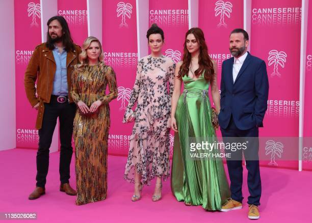 CANNESERIES jury members French musician Robin Coudert aka Rob Italian actress Miriam Leone FrenchBritish actress Emma Mackey Canadian actress...