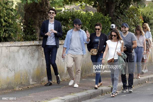 Jury members Hugo Gelin Manu Payet Aure Atika Camille Cottin and Ibrahim Maalouf attend day 2 of the 31st Cabourg Film Festival on June 15 2017 in...