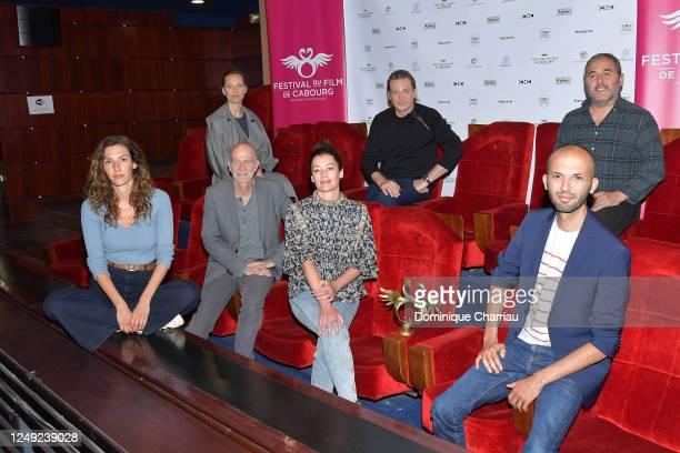 Jury Members Isild Le Besco, Benoit Magimel, Ahmed Hamidi and Dora Tillier, Festival President Guillaume Laurant, Aurelie Dupont and Issam Krimi pose...