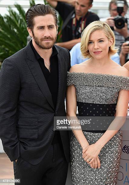 Jury members Jake Gyllenhaal and Sienna Miller attend the Jury photocall during the 68th annual Cannes Film Festival on May 13 2015 in Cannes France