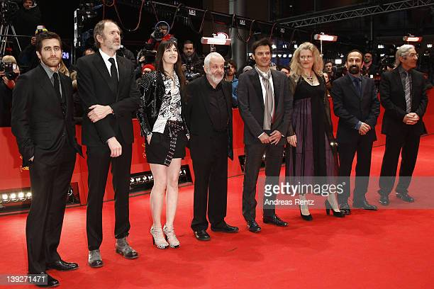 Jury members Jake Gyllenhaal Anton Corbijn Charlotte Gainsbourg Mike Leigh Francois Ozon Barbara Sukowa Asghar Farhadi and Boualem Sansal attend the...