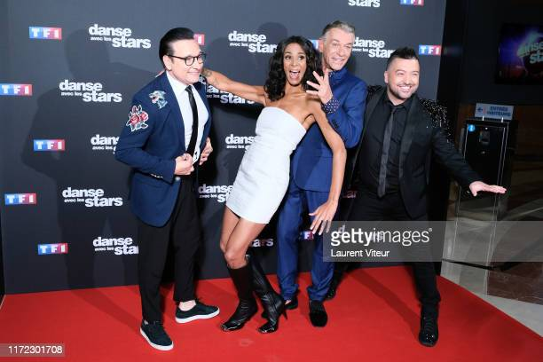Jury Members JeanMarc Genereux Shy'm Patrick Dupond and Chris Marques attend the Danse Avec Les Stars Photocall At TF1 on September 04 2019 in...