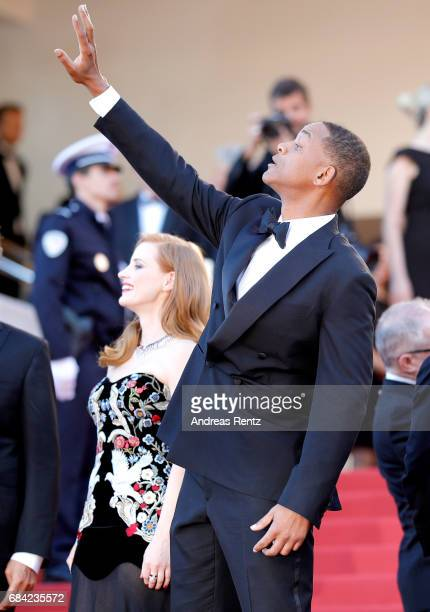 Jury members Jessica Chastain and Will Smith attend the 'Ismael's Ghosts ' screening and Opening Gala during the 70th annual Cannes Film Festival at...