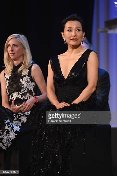 Jury members Jessica Hausner and Joan Chen attend the Closing Ceremony during the 71st Venice Film Festival at Sala Grande on September 6 2014 in...