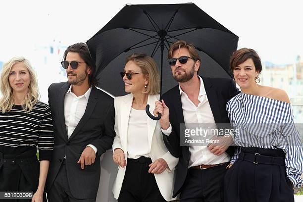 Jury members Jessica Hausner, Diego Luna, Marthe Keller, Ruben Oestlund and Celine Sallette attend the Jury Un Certain Regard Photocall during the...