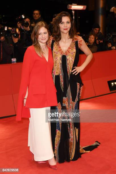 Jury members Julia Jentsch and Maggie Gyllenhaal arrive for the closing ceremony of the 67th Berlinale International Film Festival Berlin at...