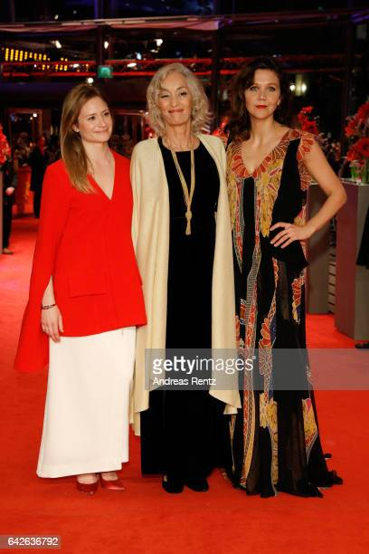 Jury members Julia Jentsch Dora Bouchoucha Fourati and Maggie Gyllenhaal arrive for the closing ceremony of the 67th Berlinale International Film...