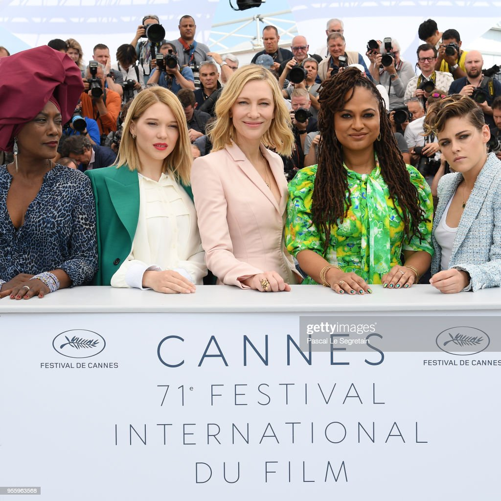 Jury members Khadja Nin, Lea Seydoux, Jury head Cate Blanchett, jury members Ava DuVernay and Kristen Stewart attend the Jury photocall during the 71st annual Cannes Film Festival at Palais des Festivals on May 8, 2018 in Cannes, France.