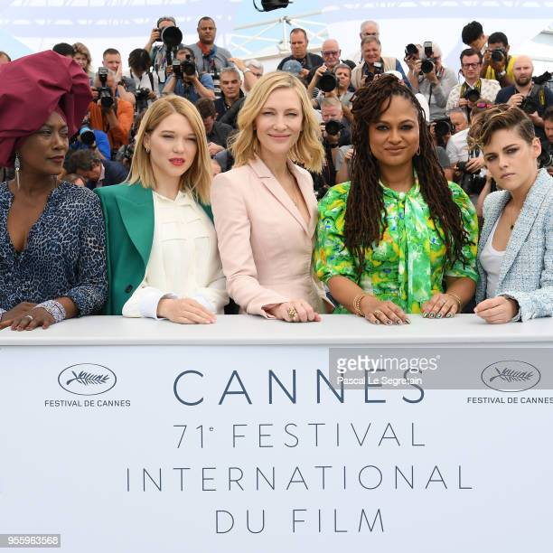 Jury members Khadja Nin Lea Seydoux Jury head Cate Blanchett jury members Ava DuVernay and Kristen Stewart attend the Jury photocall during the 71st...