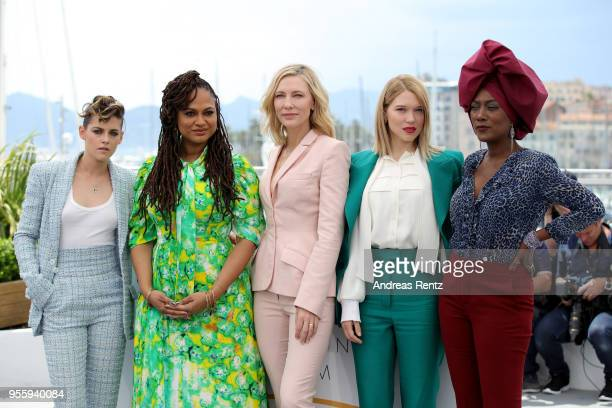 Jury members Kristen Stewart Ava DuVernay Jury head Cate Blanchett Lea Seydoux and Khadja Nin attends the Jury photocall during the 71st annual...