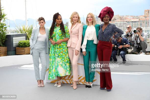 Jury members Kristen Stewart Lea Seydoux Jury head Cate Blanchett Ava DuVernay and Khadja Nin attend the Jury photocall during the 71st annual Cannes...
