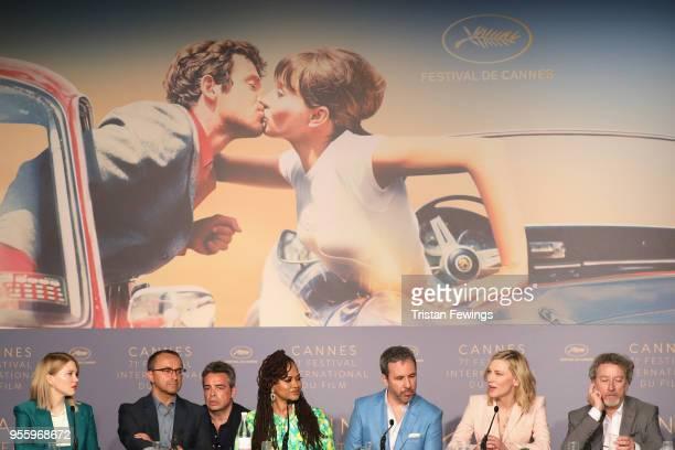 Jury members Lea Seydoux Andrey Zvyagintsev Ava DuVernay Denis Villeneuve jury president Cate Blanchett and jury member Robert Guediguian attend the...