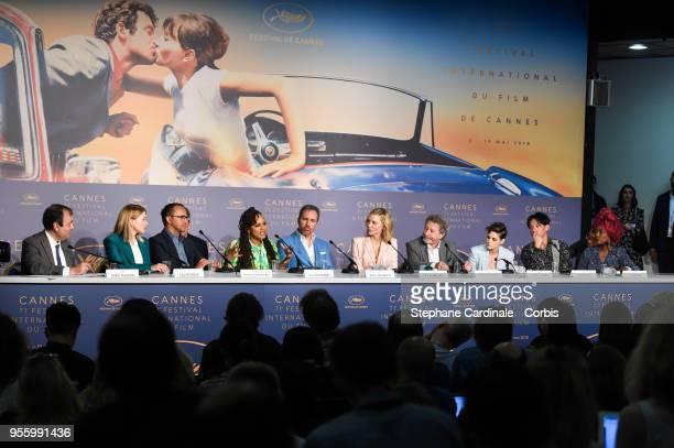 Jury members Lea Seydoux Andrey Zvyagintsev Ava DuVernay Denis Villeneuve jury president Cate Blanchett and jury members Robert Guediguian Kristen...