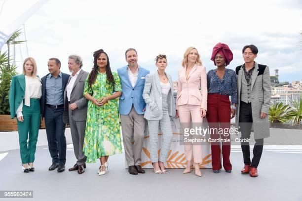 Jury members Lea Seydoux Andrey Zvyagintsev Ava DuVernay Denis Villeneuve Kristen Stewart jury head Cate Blanchettt Khadja Nin and Chang Chen attends...