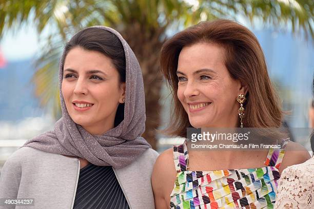 Jury members Leila Hatami and Carole Bouquet attends the Jury photocall during the 67th Annual Cannes Film Festival on May 14 2014 in Cannes France