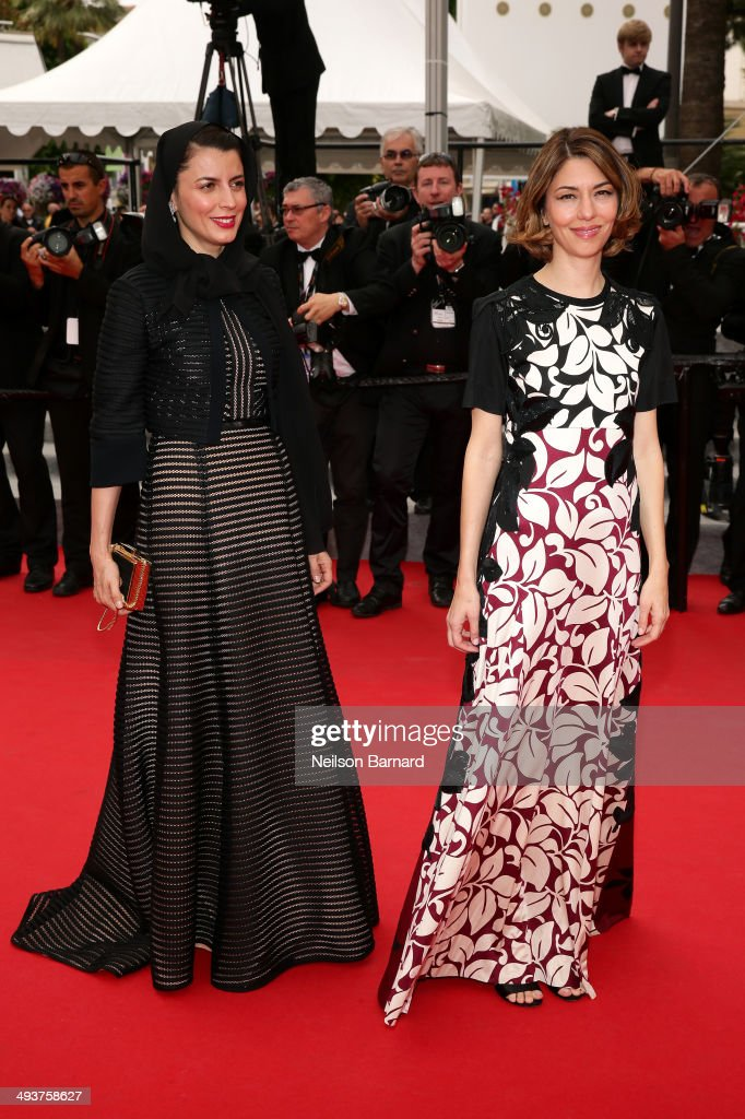 Jury members Leila Hatami (L) and Sofia Coppola attend the red carpet for the Palme D'Or winners at the 67th Annual Cannes Film Festival on May 25, 2014 in Cannes, France.
