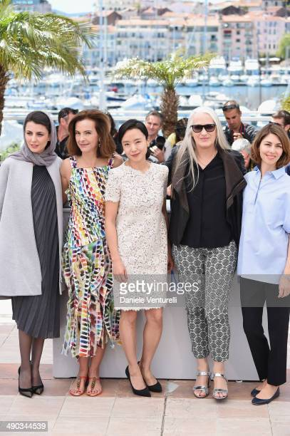 Jury members Leila Hatami Carole Bouquet Doyeon Jeon Jury President Jane Campion and Jury member Sofia Coppola attend the Jury photocall during the...