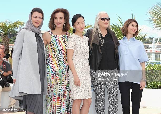 Jury members Leila Hatami Carole Bouquet Doyeon Jeon jury president Jane Campion and jury member Sofia Coppola attend the Jury photocall during the...