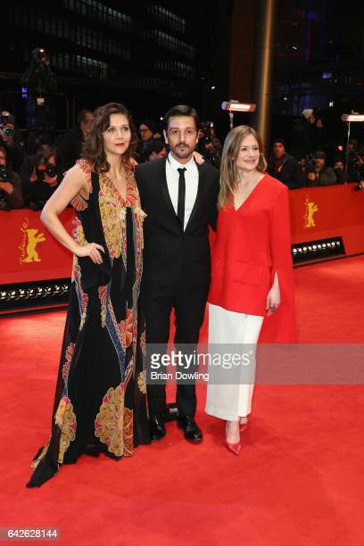 Jury members Maggie Gyllenhaal Diego Luna and Julia Jentsch arrive for the closing ceremony of the 67th Berlinale International Film Festival Berlin...