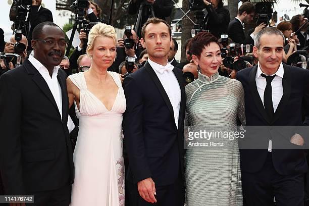 "Jury members Mahamat-Saleh Haroun, Linn Ullmann, Jude Law, Nansun Shi and Olivier Assayas attend the ""Pirates of the Caribbean: On Stranger Tides""..."