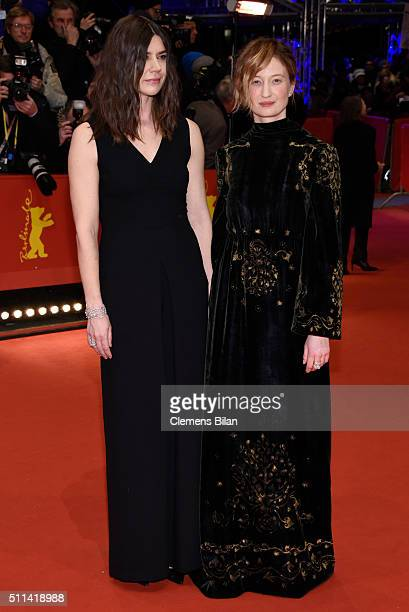 Jury members Malgorzata Szumowska and Alba Rohrwacher attend the closing ceremony of the 66th Berlinale International Film Festival on February 20...