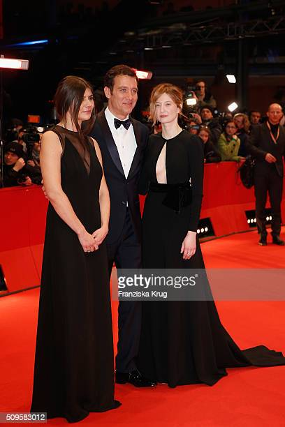 Jury members Malgorzata Szumowska Clive Owen and Alba Rohrwacher attends the 'Hail Caesar' premiere during the 66th Berlinale International Film...