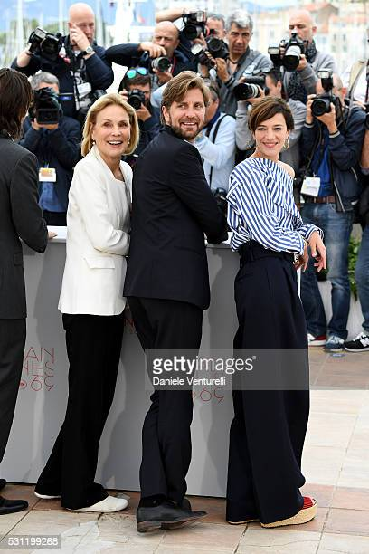 Jury members Marthe Keller Ruben Oestlund and Celine Sallette attend the Jury Un Certain Regard Photocall during the 69th annual Cannes Film Festival...