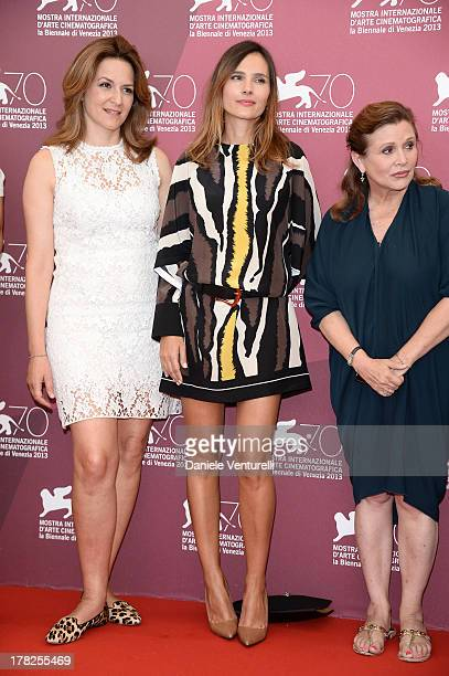 Jury members Martina Gedeck Virginie Ledoyen Carrie Fisher attend 'Venezia 70' Jury Photocall during the 70th Venice International Film Festival on...