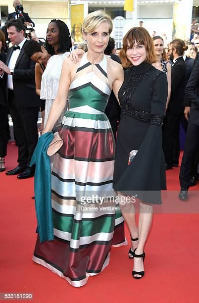 """Jury members Melita Toscan du Plantier and Marie-Josee Croze attend the """"Elle"""" Premiere during the 69th annual Cannes Film Festival at the Palais des..."""