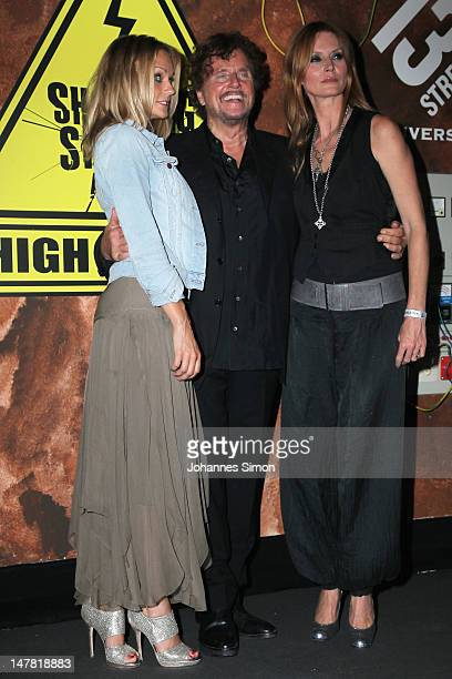 Jury members Mirjam Weichselbraun Dieter Wedel and Esther Schweins attend the Shocking Shorts Award at former Tivoli power station on July 3 2012 in...