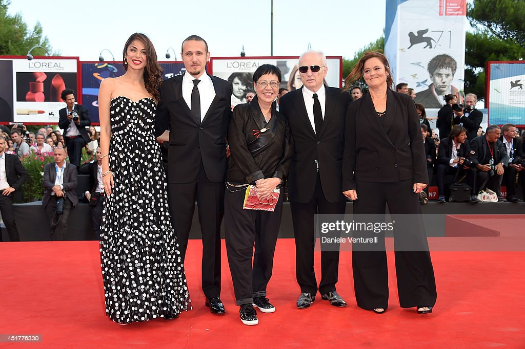 Jury members Moran Atias, Roberto Minervini, Jury President Ann Hui, David Chase and Pernilla August attend the Closing Ceremony during the 71st Venice Film Festival at Sala Grande on September 6, 2014 in Venice, Italy.