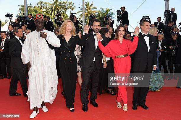 Jury members Moussa Toure Maria Bonnevie Pablo Trapero Geraldine Pailhas and President of the Criterion Collection Peter Becker attend the Un Certain...