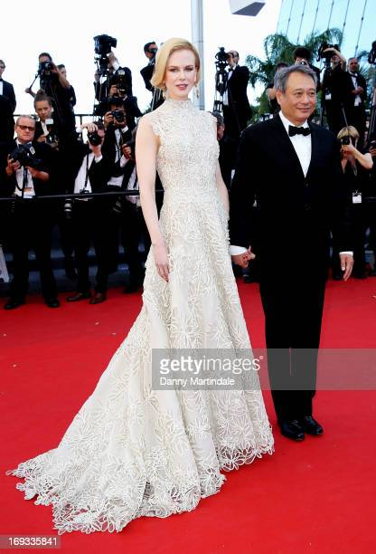 Jury members Nicole Kidman and Ang Lee attend the Premiere of 'Nebraska' during the 66th Annual Cannes Film Festival at The Palais des Festivals on...