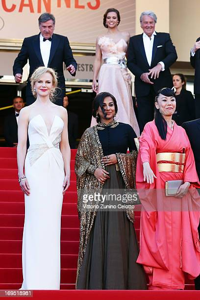 Jury members Nicole Kidman Vidya Balan and Naomi Kawase attend the 'Zulu' Premiere and Closing Ceremony during the 66th Annual Cannes Film Festival...