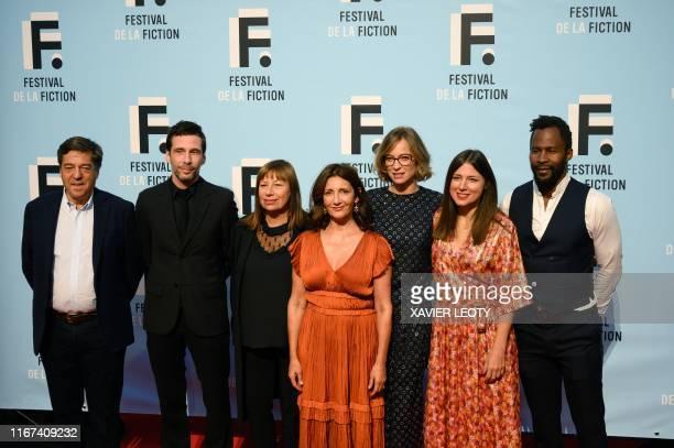 "Jury members of the 21st edition of the ""Festival de la fiction"" Francois Tron, Alex Beaupain, Isabelle Czakja, president Valerie Karsenti, Elodie..."