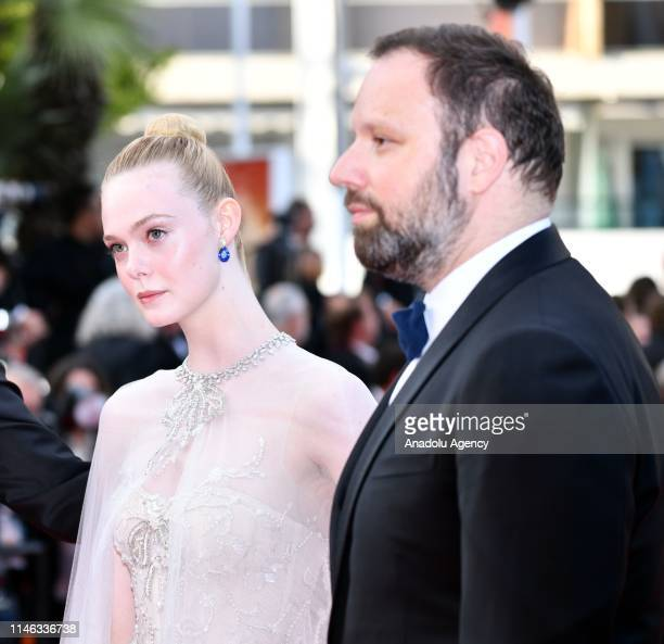 Jury Members of the main competition Elle Fanning and Yorgos Lanthimos arrive for the Closing Awards Ceremony of the 72nd annual Cannes Film Festival...
