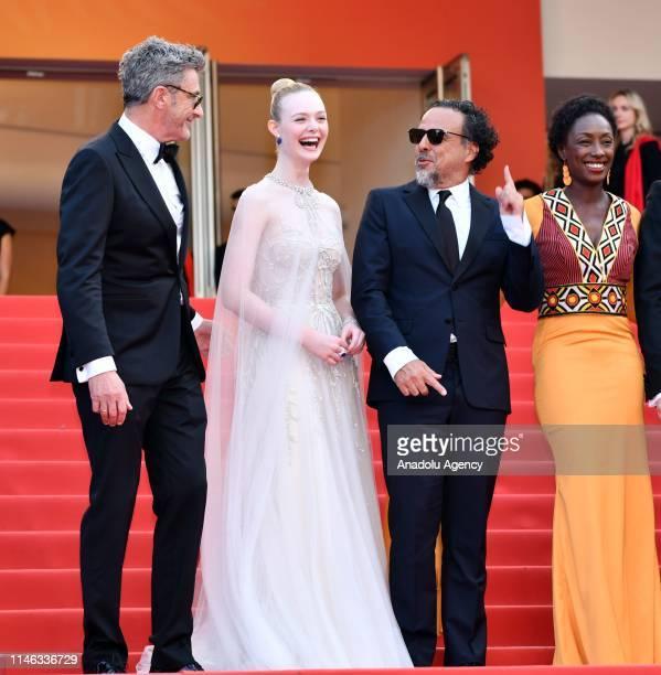 Jury Members of the main competition Pawel Pawlikowski Elle Fanning Alejandro Gonzalez Inarritu Maimouna N'Diaye arrive for the Closing Awards...