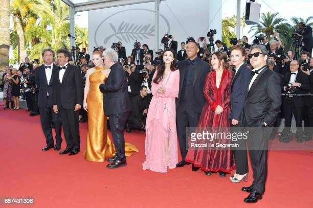 Jury members Paolo Sorrentino Gabriel Yared Jessica Chastain President of the jury Pedro Almodovar jury members Fan Bingbing Will Smith Agnes...