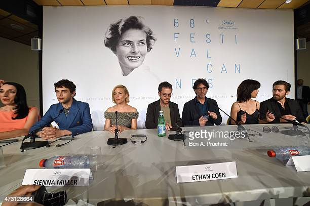 Jury members Rossy De Palma Xavier Dolan Sienna Miller Ethan Coen Joel Coen Sophie Marceau and Jake Gyllenhaal attend the press conference for the...