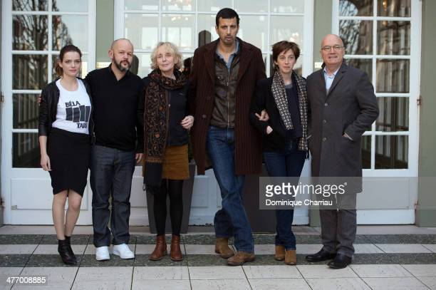 Jury members Roxane Mesquida Gilles Marchand Claire Denis Samir Guesmi Florence Loiretcaille and Renée Bonnell attend the jury Photocall during the...