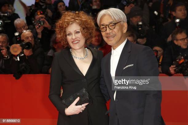 Jury members Ryuichi Sakamoto and Stephanie Zacharek attend the Opening Ceremony 'Isle of Dogs' premiere during the 68th Berlinale International Film...