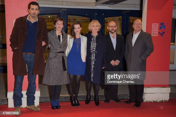 Jury Members Samir Guesmi Florence LoiretCaille Roxane Mesquida Claire Denis Gilles Marchand and Rene Bonnell attend the Deauville Asian Film...