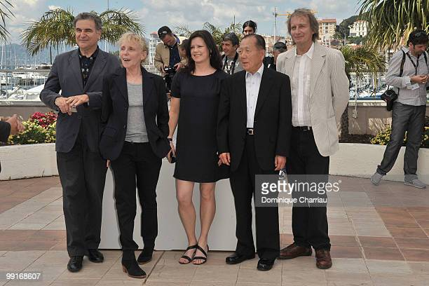 Jury members Serge Toubiana Un Certain Regard Jury President Claire Denis Helena Lindblad Dong Ho Kim and Patrick Ferla attend the Un Certain Regard...