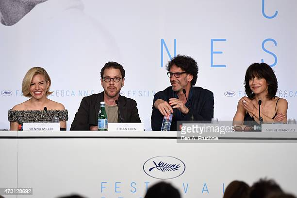 Jury members Sienna Miller Ethan Coen Joel Coen and Sophie Marceau attend the press conference for the members of the Jury during the 68th annual...