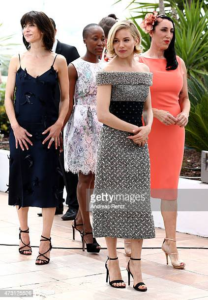 Jury members Sophie Marceau Rokia Traore Sienna Miller and Rossy De Palma attend the Jury photocall during the 68th annual Cannes Film Festival on...